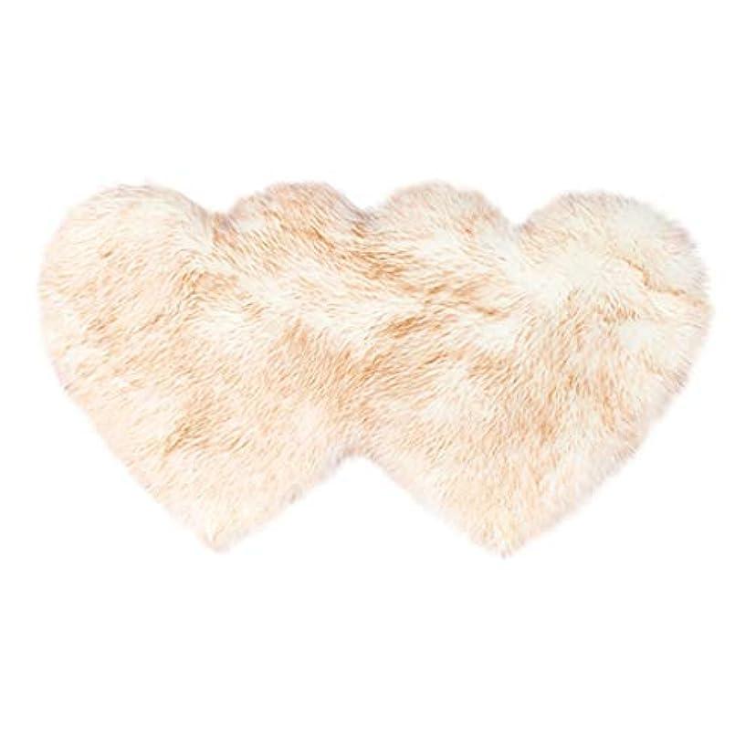 あごひげ郵便屋さん摂氏愛の形の羊毛と羊の皮のじゅうたんと非滑り防止の寝室の毛茸のじゅうたんのマット