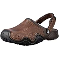Crocs Mens Swiftwater Leather Clog