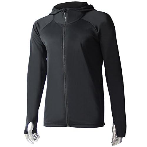 VAXPOT(バックスポット) ラッシュガード ラッシュパーカー 長袖 【軽量 指穴付き】 VA-4059 ブラック L(男性用フリー)