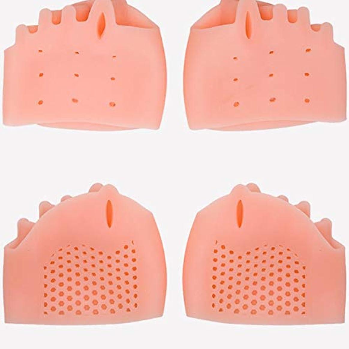 ラバフェザー上院議員Silicone Toe Separator Foot Braces Support Little Toe Varus Corretcor for Overlapping Toe Foot Care for Men Women