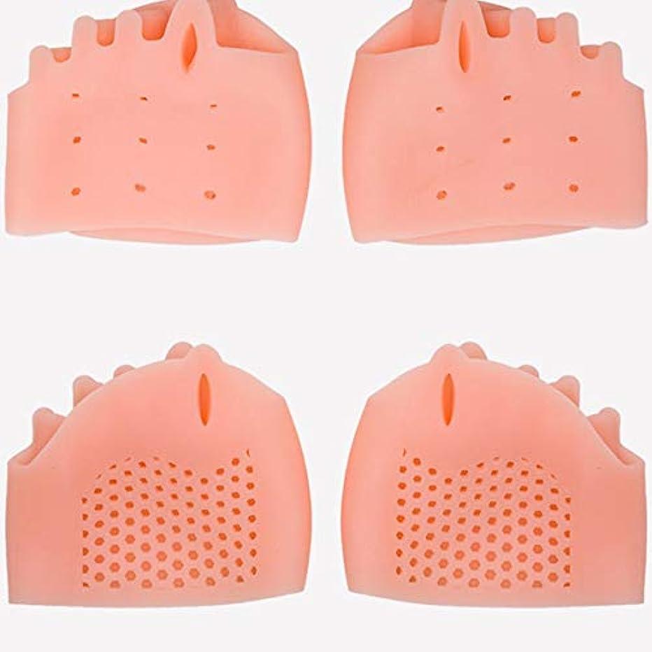 男らしいにはまって反対するSilicone Toe Separator Foot Braces Support Little Toe Varus Corretcor for Overlapping Toe Foot Care for Men Women