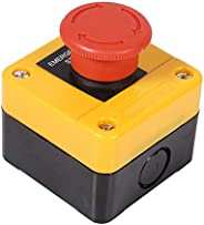 Emergency Stop Switch, 1Pc 660V 10A Plastic Shell Red Sign Emergency Stop Mushroom Push Button Switch New, 77 x 76 x 64mm /
