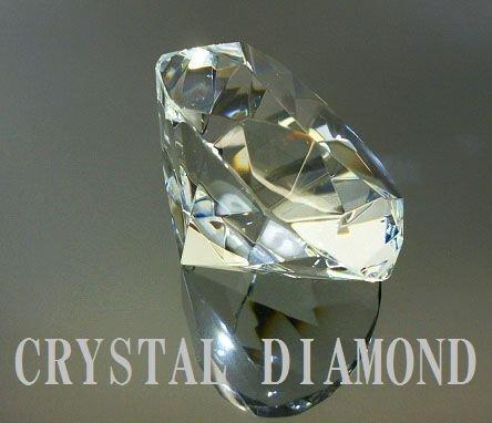 特大! ダイヤモンドカット クリスタルガラス
