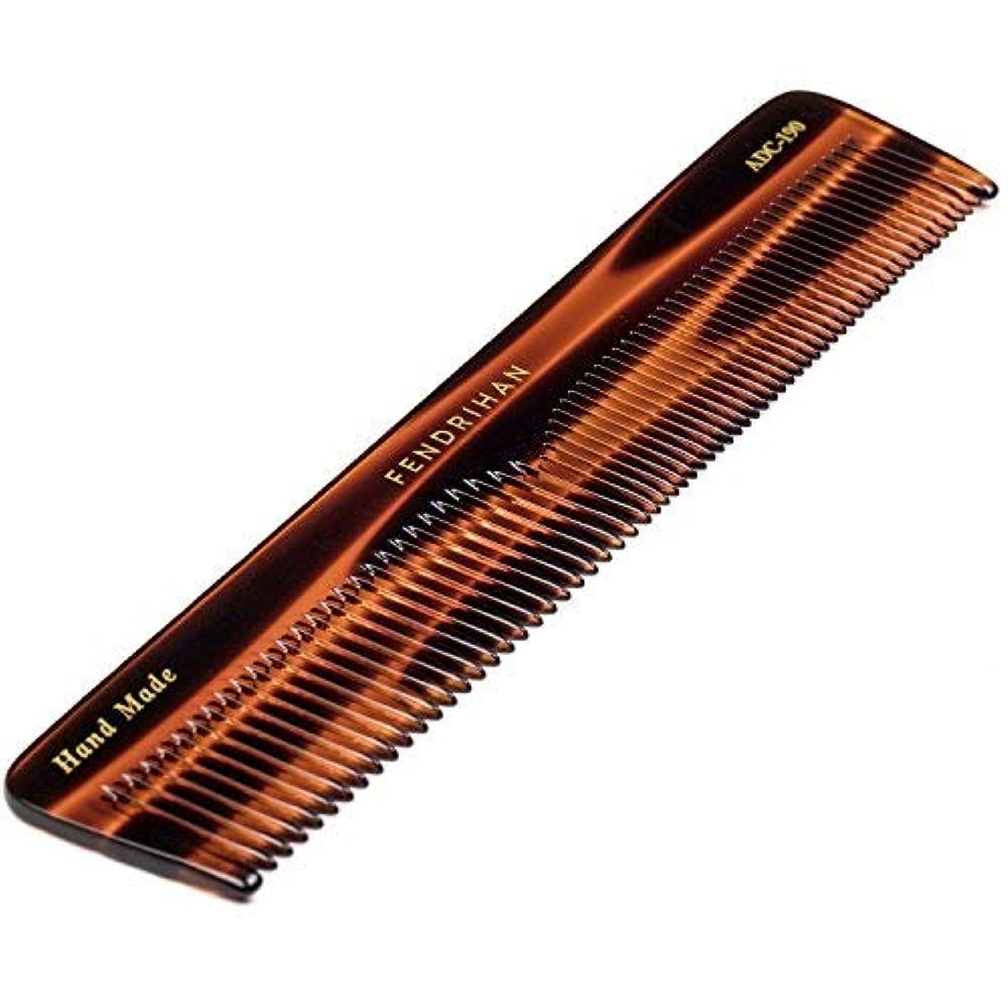 マラウイ覗く取り付けFendrihan Hand Finished Large Double Tooth Comb for Men, Faux Tortoise (7.3 Inches) [並行輸入品]