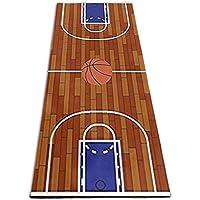 ヨガマットバスケットボール場スポーツ、トレーニング、ピラティスコースヨガマット 10mm 多機能高級スポーツ用ヨガマット