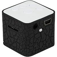 BuyEverything ポータブルミニスピーカー ケーブル付き カラフルクラック LEDライト 小型スピーカー サウンドボックスキューブ マイクロSD/TFカード対応 最大32GB音楽メディアプレーヤー マルチカラー BuyEverything