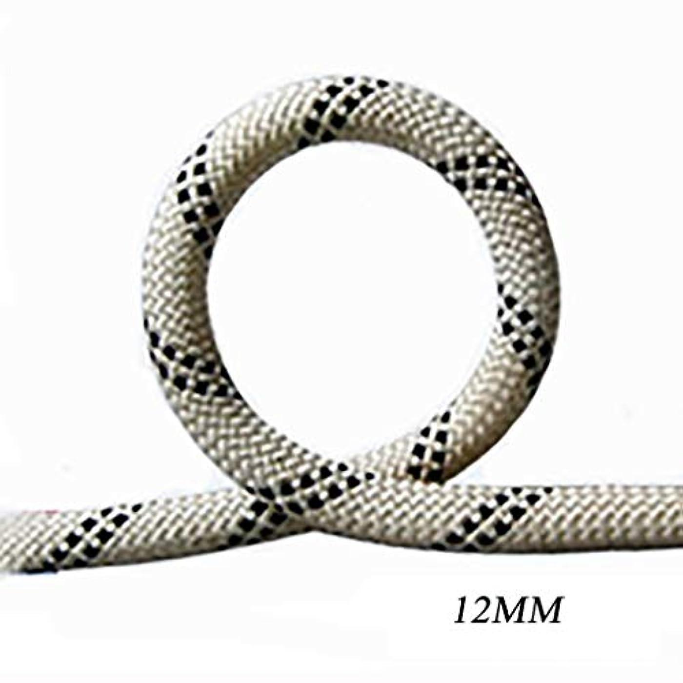 妻個人的な差別化するロープ(張り綱) スタティックロープ屋外登山用ラペリングロープナイロン耐摩耗クライミング用安全ロープΦ12MM(0.47mm)白黒 (サイズ さいず : 60M(196.8FT))