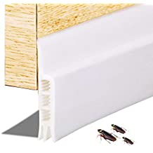 "Leegoal Door Sweep Door Strip, Weather Stripping Under Door Draft Stopper Blocker Door Seal Noise Stopper Kick Off Bugs Mosquitoes (2"" Width X 36"" Length)"