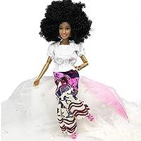 Baoblade 31cm人形 モダン アフリカンガールドール 12ジョイント可動式人形 服付き