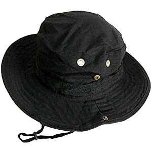 SHENKEL ブーニーハット ジャングルハット ブラック 黒 フリーサイズ 帽子 hat-001bk