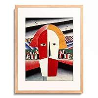 カジミール・マレーヴィチ Kazimir Malevich (Kasimir Sewerinowitsch Malewitsch) 「Head of a Peasant」 額装アート作品
