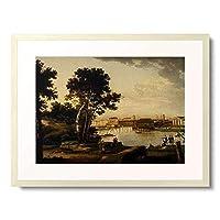 Stschedrin, Silvester,1791-1830 「St.Petersburg, Blick von der Petrowsky- Insel zur Tuchkov-Brucke und die」 額装アート作品