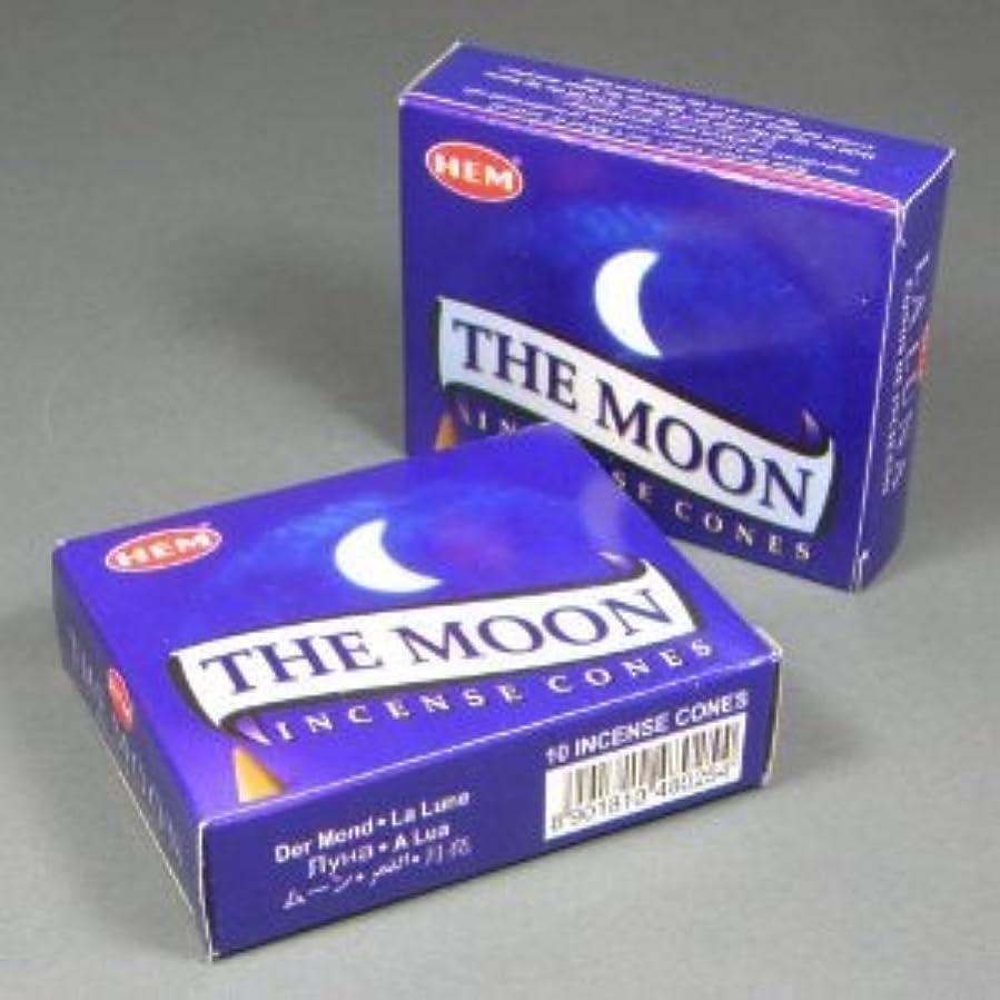 辛い彼はスポーツHem The Moon Incense Dhoop Cones、10円錐のペアボックス