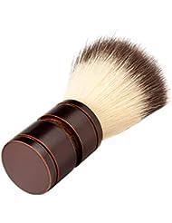 Hellery ひげブラシ シェービングブラシ ひげ剃り 柔らかい 髭剃り 泡立ち 理容 美容ツール