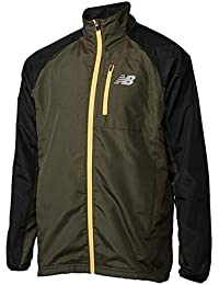 new balance(ニューバランス)' リップストップウインドジャケットフーディ (MKG)ミリタリーダークトライアンフグリーン トレーニングシャツ (JMJP7607)