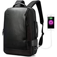 Bopai Business 15.6 inch Laptop Backpack Convertible Increase Compartment Anti-Theft Laptop Rucksack USB Charging and Water Resistant College Multi-Functional Travel Men Backpack, Black