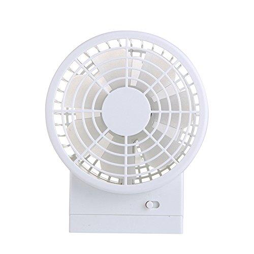 USB扇風機 卓上 卓上扇風機 ミニ扇風機 携帯ファン 二重反転ファン 2段階風量切り替え 30度角調節可能 静音 携帯扇風機 4色選べる (ホワイト)