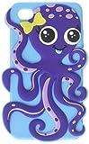 Best Mybat iPhone 4Sケース - MyBat Dark Purple/Baby Blue Octopus Pastel Skin Cover Review