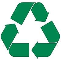 """Recycleロゴビニールステッカーデカール 12"""" x 11.4"""" グリーン AB"""