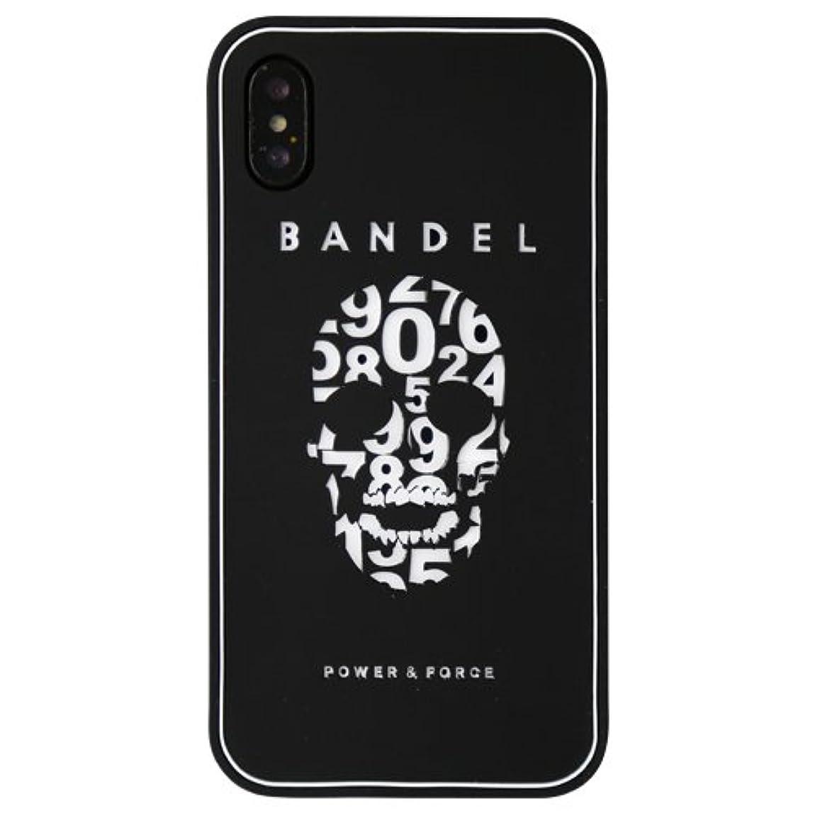 賢い他の場所ナビゲーションバンデル(BANDEL) スカル iPhone X専用 シリコンケース [ブラック×ホワイト]