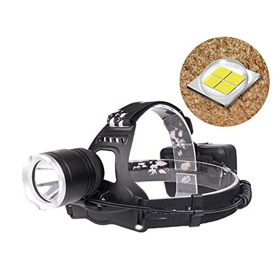 官僚努力する巡礼者KISENG 1800LM XHP50 LEDヘッドランプ 18650バッテリー USBインターフェース 3モード 防水 キャンプ ハイキング サイクリング
