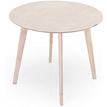 LOWYA ダイニングテーブル テーブル 単品 丸テーブル 幅90cm コンパクト ホワイト