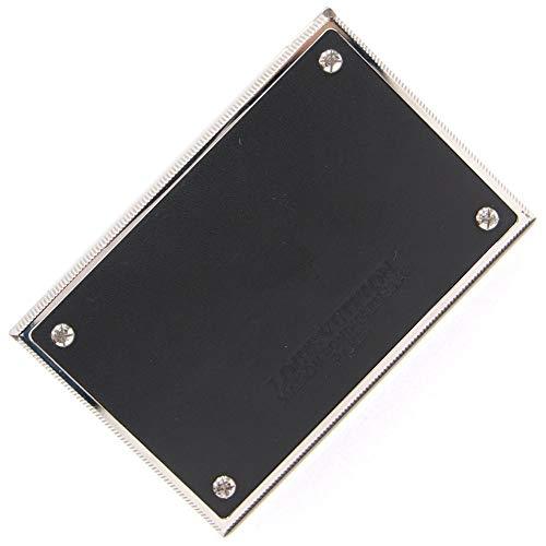 LOUIS VUITTON(ルイヴィトン) 名刺入れ ノマド ポルト カルト グルーヴ M66707 ノワール シルバー レザー メタル 中古 カード入れ カードホルダー ロゴ入り カードケース ビジネス LOUIS VUITTON [並行輸入品]