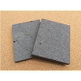 【イワタニ 炉ばた大将 炙家W】の大きさに合わせて溶岩プレートを加工しました! 3枚セット!13センチ×17センチ! 穴が少ない高級溶岩だけを使用しています♪ 価格で勝負の切削仕上げ!