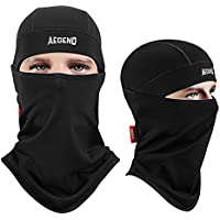 Balaclava Aegend Windproof Ski Face Mask Winter Motorcycle Neck Warmer Tactical Balaclava Hood Polyester Fleece for Women Men Youth Snowboard Cycling Hat Outdoors Helmet Liner Mask-Black, 1 Piece