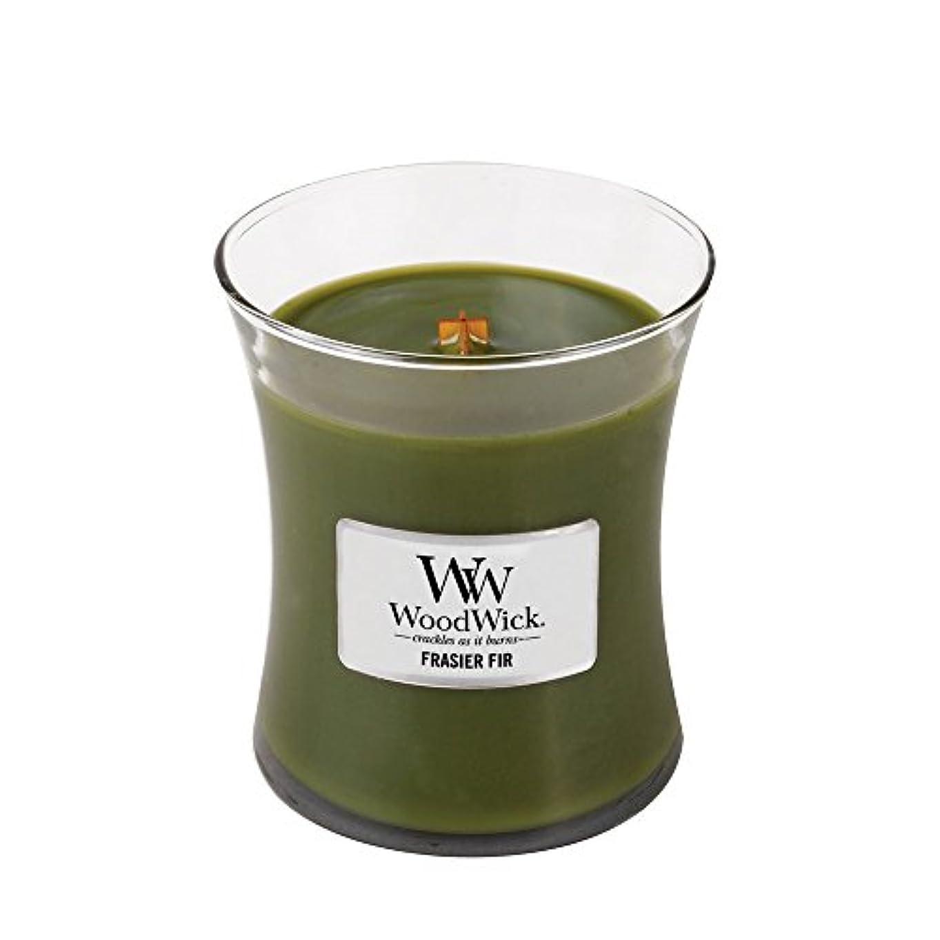財布抜け目のないトランスペアレントWoodWick Candle, Medium Frasier Fir