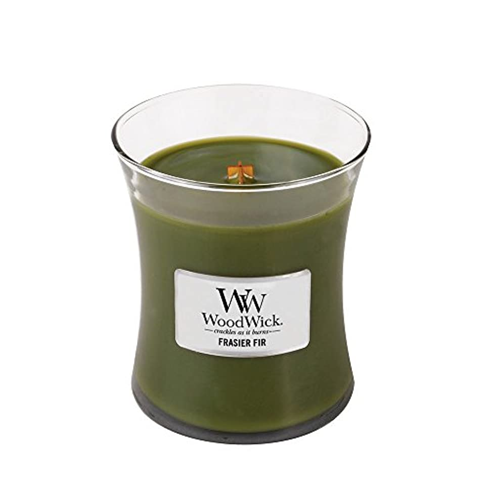 回復役割電話をかけるWoodWick Candle, Medium Frasier Fir