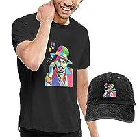 Tシャツ メンズ 半袖・リント パイレーツ?オブ?・リビアン ジョニー?デッ・リントhnny Depp ジャック おしゃれシンプル 通学 運動 日常用 (カウボーイ帽を贈る!)