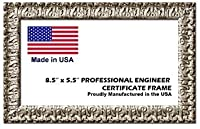 プロフェッショナルエンジニアライセンス証明書木製フレーム–8.5X 5.5インチ F10718_5.5x8.5_ProfEng