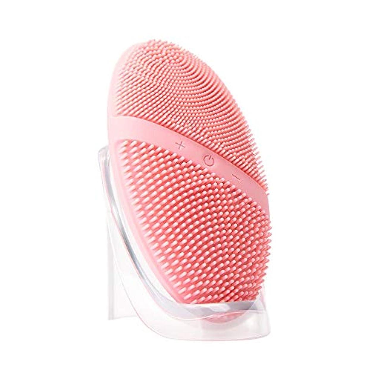 可能症状焦げZXF 新電気シリコーンクレンジングブラシ防水超音波振動クレンジング楽器深い洗浄毛穴洗浄器具マッサージ器具美容器具 滑らかである