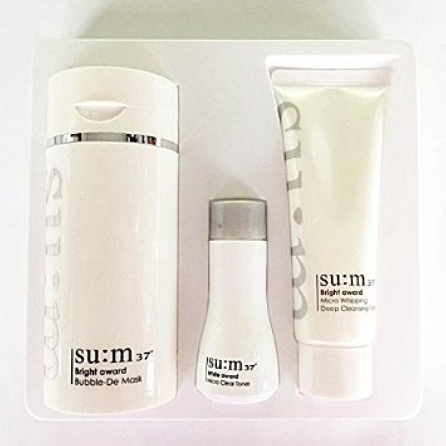 ひねり前奏曲リサイクルするSu:m37°(スム37) Su:m 37 White Bright Award Bubble-De Mask Special Set 企画セット [並行輸入品]