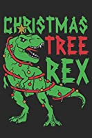 """Christmas Tree Rex: Notebook for Kids,Funny Kids Gift, Lined Notebook for Kids,Large 6""""x9"""" 100 pages (Blank Lined NoteBook)"""