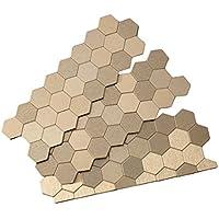 アスペクトPeel and Stick Backsplash Honeycomb Mattedメタルタイルのキッチン、トイレ Sample ゴールド X88-51