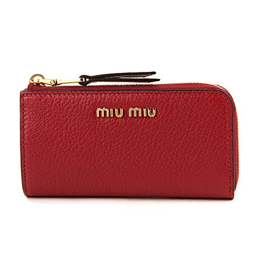 ミュウミュウ(MIU MIU) キーケース 5PP026 2E5V F068Z マドラス レッド 赤 [並行輸入品]
