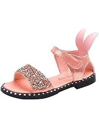 28314fa1227de  FollowDream  サンダル キッズ 女の子 子供靴 プリンセスサンダル ガールズ ジュニア ビーチサンダル キッズシューズ 柔らかい ウサギ  真夏靴 かわいい きらきら…