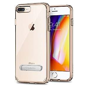 【Spigen】 iPhone7 Plus ケース, [ 米軍MIL規格取得 背面キックスタンド付 ] ウルトラ・ハイブリッド S アイフォン 7 プラス 用 カバー (iPhone7 Plus, クリスタル・クリア)