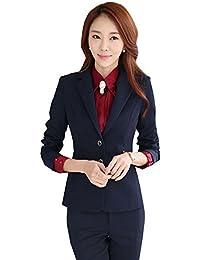 (激情女郎)JIQINGNVLANG レディース 上下セット OL 細身作り 上質 オフィス 事務服 洗える パンツスーツ