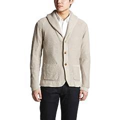United Arrows Cotton Linen Shawl Collar Cardigan 1113-136-2663: Natural