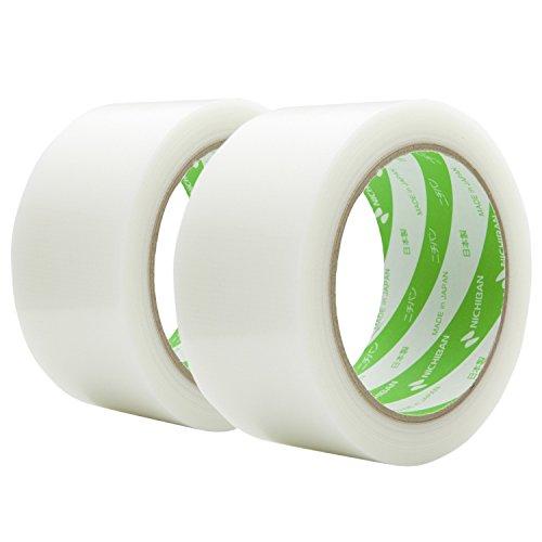 ニチバン 養生テープ フィルムクロス テープ 2巻 幅50mm×25m巻 18550-2P 白