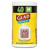 Glad Kitchen Tidy Wavetop Tie Trash Bags - Medium, 40s