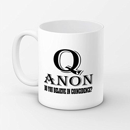 sayomen–Qanon 11オンスホワイトコーヒーマグ–Do You Believe In偶然?–ギフトのアイデアQanon Followersマグ 15oz ホワイト SR605MUG0010532