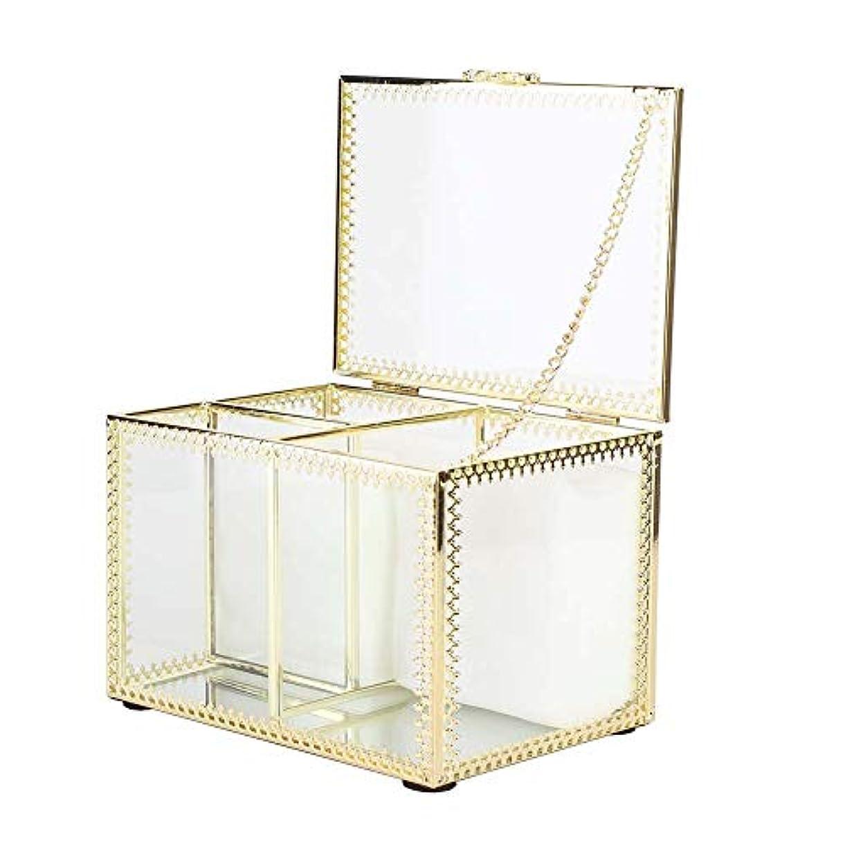 焦げ人気の現れるネイルアート収納ボックス、合金ネイルアートツール収納ボックスデスクトップネイルポリッシュソークオフジェルコットンオーガナイザーケースネイル用品