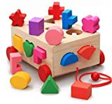 木製玩具 車 型 パズル 知育 玩具 形はめ 図形認識 ブーブー ブロック ボックス