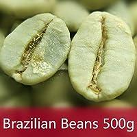 500g (1.1LB) コーヒー豆ハーブティーフラワーティー花草茶中国茶飲料茶葉お茶Brazil Green Coffee Beans 100% Original High Quality Green Coffee herbal tea Green tea Raw tea Green food Healthy Tea Chinese tea