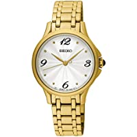 Seiko womens SRZ494P Year-Round Analog Solar Powered Gold Watch