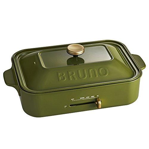 BRUNO コンパクトホットプレート オリーブグリーン BOE021-OL